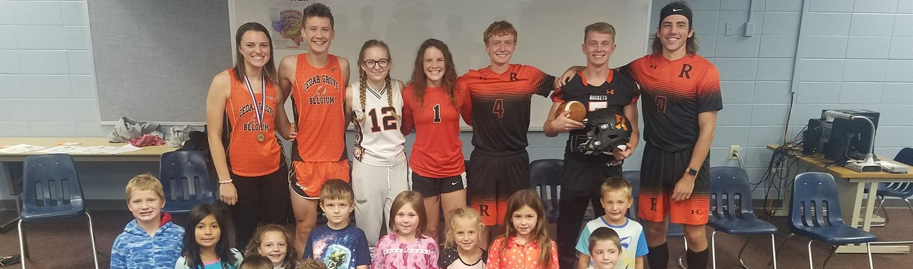 2019 Fall Athletes visit 1st gr