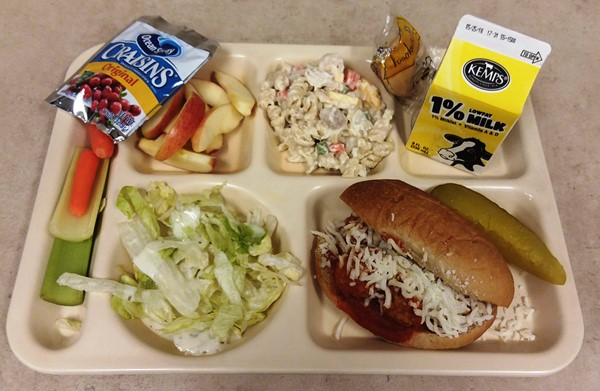 Meatball Sub with Pasta Salad and Fruit/Veggie Bar