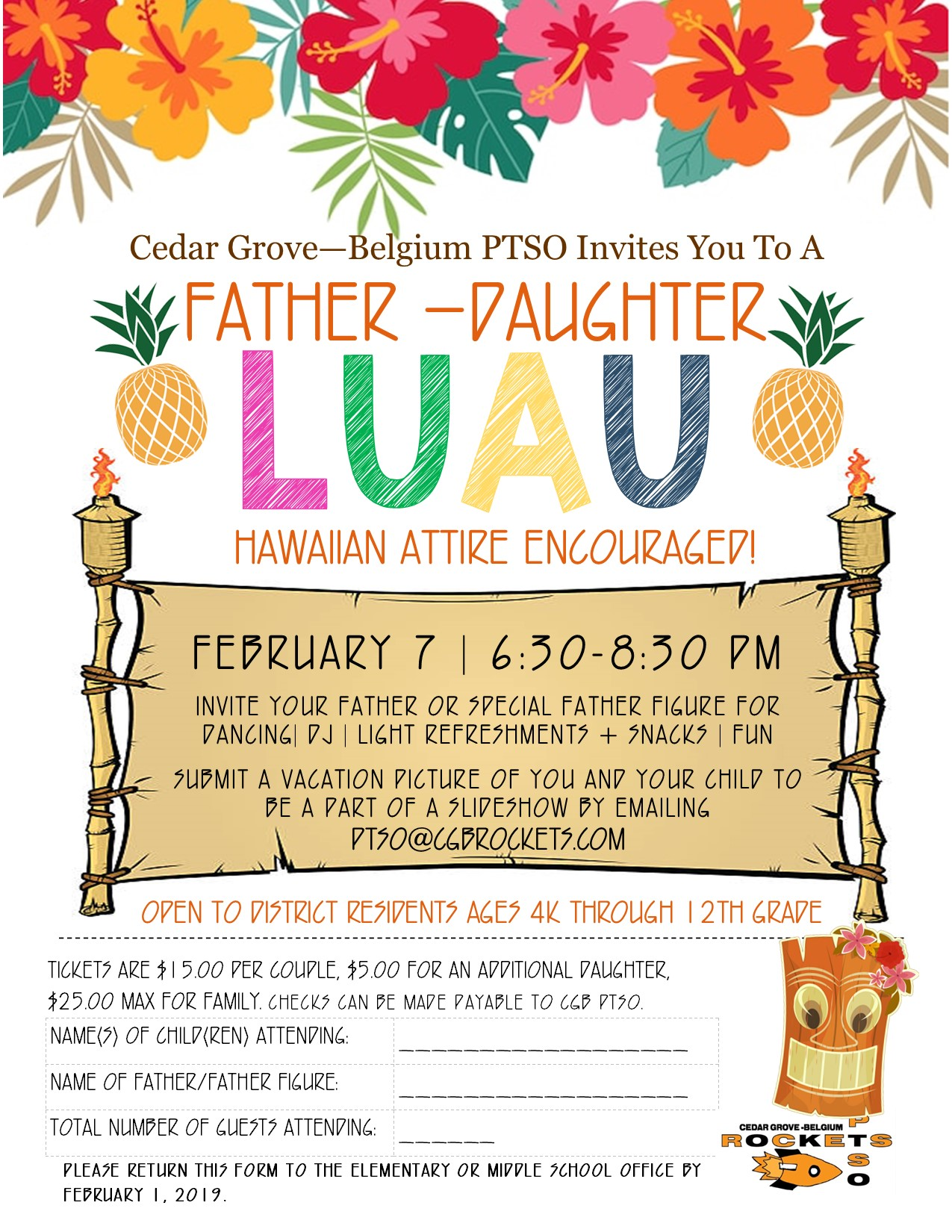 Father Daughter Luau