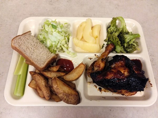 Barbecue Chicken with Potato Wedges