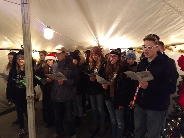 HS Choir Caroling in Belgium